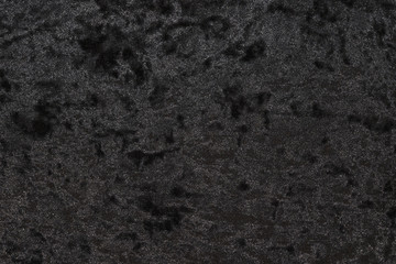 Highly detailed texture of black velour cloth.