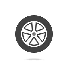 Car wheel icon vector isolated