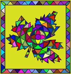 colored image of leaf