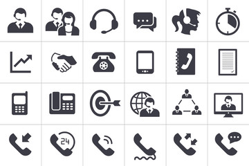 24 Call Center Icons