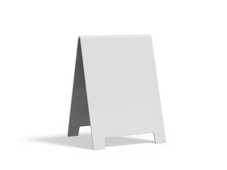 Crezon A-frame sandwich boards for design mock up and presentation on isolated white background, 3d illustration