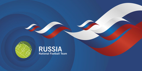 Russia flag soccer football team abstact stadium background
