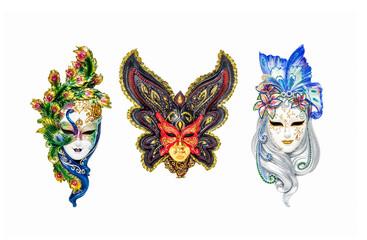 Venetian masks for carnival in Venice, Italy