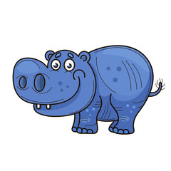 Little hippopotamus. Cartoon
