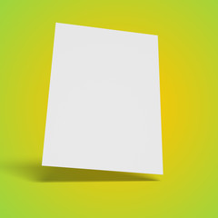 Blank business card isolated, with shadows, 3D