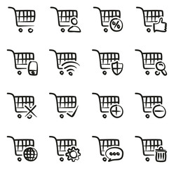 Shopping & Online Shopping Icons Freehand