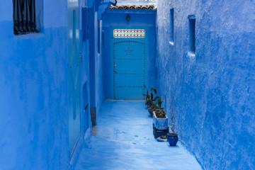 blue street in Chefchaouen