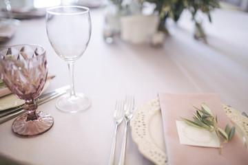 A pleasant serving of the wedding table.