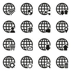 Modern Globe Icons