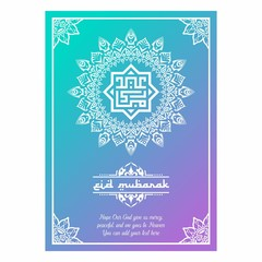 eid mubarak poster with ornament