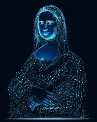 Stylized Painting Mona Lisa