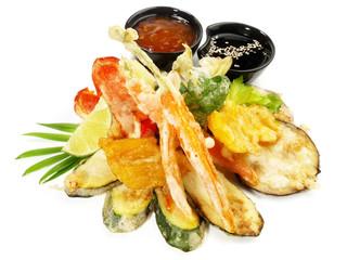 Tempura Gemüse mit Dips