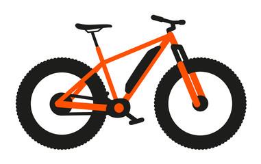 VTT Fatbike Électrique orange