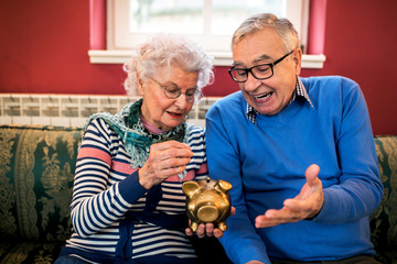Senior couple do not have money for savings
