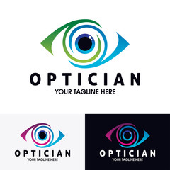 eye logo design template