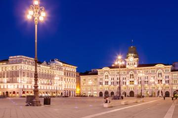Piazza dell'unità d'Italia, Trieste, Friuli Venezia Giulia, Italia Wall mural