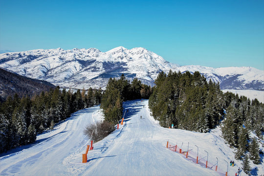 Station de ski Ax 3 domaines, Ariège, France