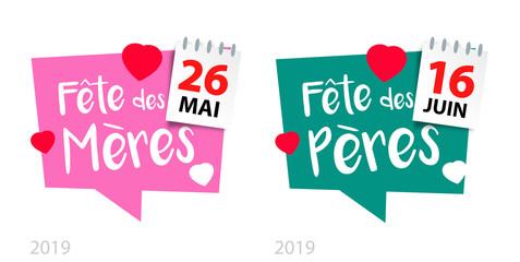 Fête des mères et des pères 2019