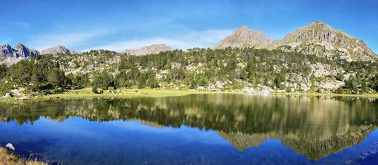 Lake in Collada de Pessons, Andorra.