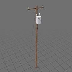 Wooden power line