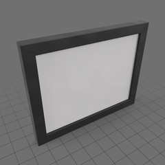 Wide hanging picture frame