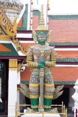 Giant Statue at Wat Phra Kaew at Grand Palace Bangkok,Thailand.