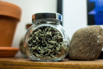 Dried Oregano in Jar