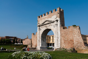 Ancient Roman Arch of August, Rimini, Italy