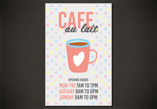Cafe Hours Poster Layout