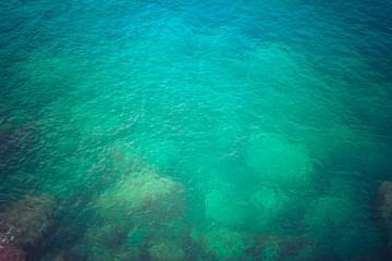 turquoise water from mediterranean sea, Ibiza, Spain