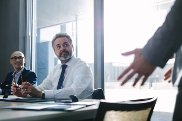 Businessman during a meeting in office