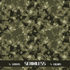 Green seamless army camouflage