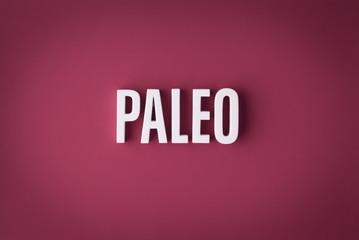 Paleo diet sign lettering