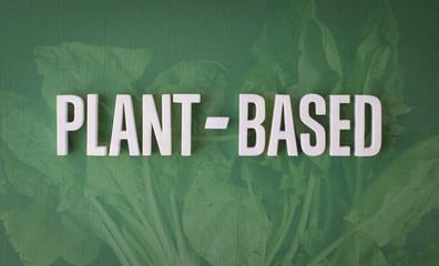Plant based lettering sign