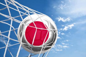 Fussball mit japanischer Flagge