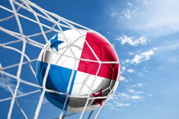 Fussball mit Panama Flagge