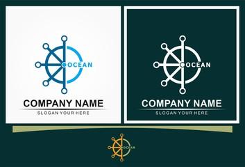 ship boat ocean logo