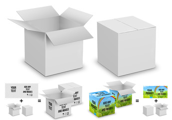 Carboard Box Mockup