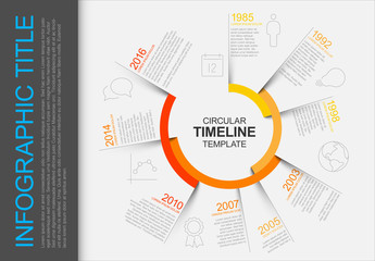 Sectioned Circle Timeline Infographic