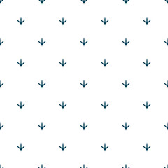 Chicken footprint seamless pattern for the fabric, wallpaper, banner.