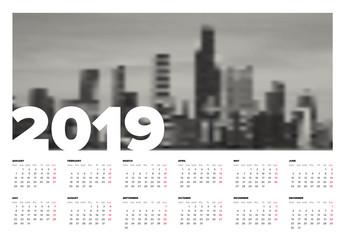 2019 Calendar Poster Layout