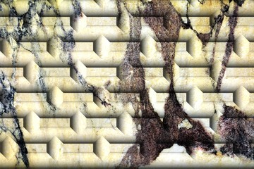 Wall brick abstract background, shapes