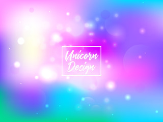 Colorful abstract background. Cute galaxy fantasy bright candy background. The unicorn in pastel color sky with rainbow. Sky vector illustration