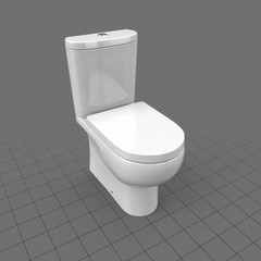 Modern toilet with seat down