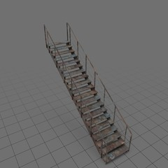 Rusty industrial staircase