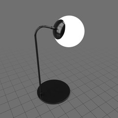 Illuminated modern table lamp