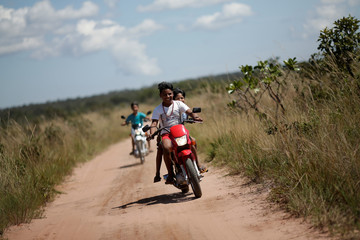 The Wider Image: Brazilian Indians fined for planting GMO soy crops