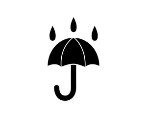 umbrella rain icon glyph style illustration design