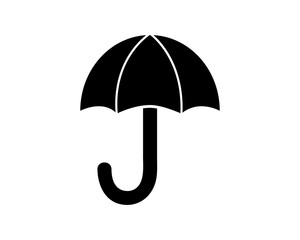 umbrella icon glyph style illustration design