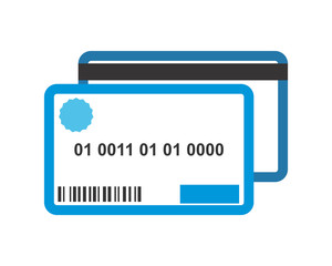 blue credit card business company office corporate image vector icon logo